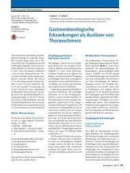 05 Gastroenterologische Ursachen als Auslöser von Thoraxschmerz