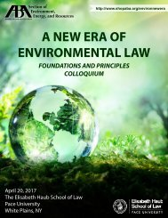 A NEW ERA OF ENVIRONMENTAL LAW