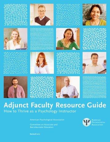 Adjunct Faculty Resource Guide