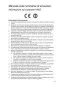 Sony VPCSA3V9E - VPCSA3V9E Documents de garantie Italien - Page 5
