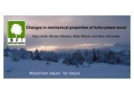Changes in mechanical properties of furfurylated wood