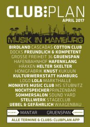 Clubplan Hamburg - April 2017