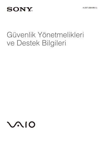 Sony VPCSA3V9E - VPCSA3V9E Documents de garantie Turc