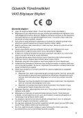 Sony VPCSA3V9E - VPCSA3V9E Documents de garantie Turc - Page 5