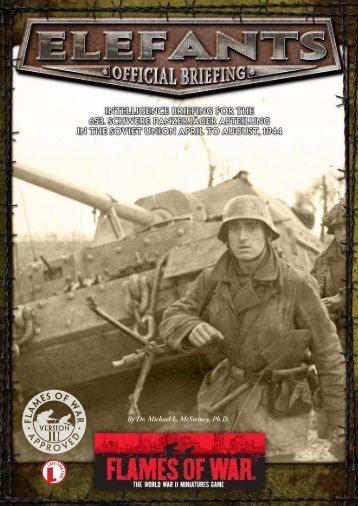 Elefant Schwere Panzerjägerkompanie (PDF)... - Flames of War