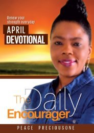 THE DAILY ENCOURAGER - APRIL EDITION