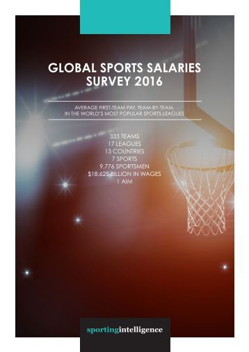 GLOBAL SPORTS SALARIES SURVEY 2016