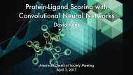 Protein-Ligand Scoring with Convolutional Neural Networks