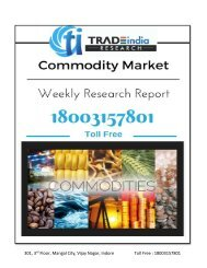 Weekly Commodity Market Report for 3 Apr-7 Apr 2017 by TradeIndia Research