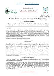 Hexamine as corrosion inhibitor for zinc in hydrochloric acid