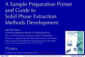 A Sample Preparation Primer and Guide to Solid Phase ... - Waters