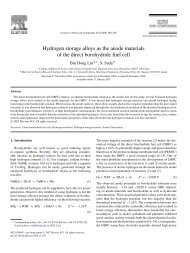 Hydrogen storage alloys as the anode materials of the direct ...