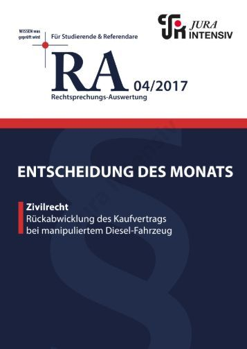 RA  04/2017 - Entscheidung des Monats