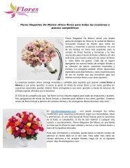 Flores Elegantes De México