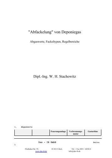 Verbrennung von Deponiegas - IB GmbH