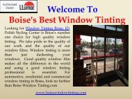 Residential Window Tinting Boise|Boise Window Tinting