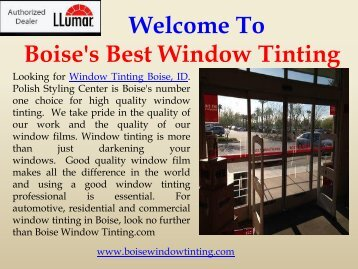 Residential Window Tinting Boise Boise Window Tinting