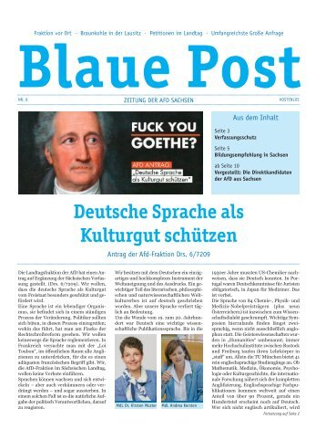 Blaue Post Nr. 8 April 2017