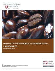 USING COFFEE GROUNDS IN GARDENS AND LANDSCAPES