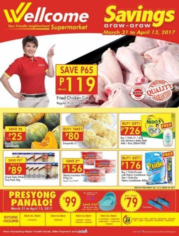 WELLCOME SUPERMARKET CATALOG expires April 13, 2017