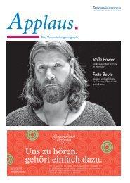 Applaus. - Das Veranstaltungsmagazin der Leipziger Volkszeitung   Ausgabe April 2017