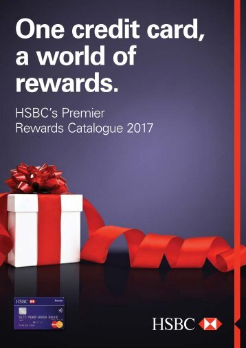 HSBC premier Rewards Catalog 2017