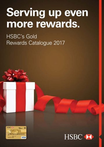 HSBC GOLD REWARDS CATALOG 2017