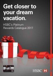 HSBC PLATINUM REWARDS CATALOG 2017