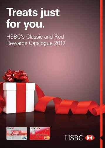 HSBC CLASSIC AND RED REWARDS CATALOG 2017