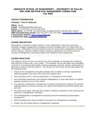 MGT 6309 (Syllabus) - Academy of Management Online
