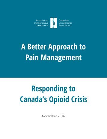Pain Management Responding to Canada's Opioid Crisis