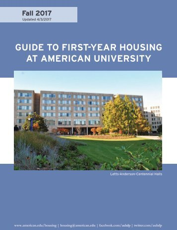 First-Year Housing Guide