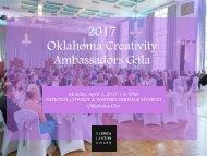 2017 Oklahoma Creativity Ambassadors Gala