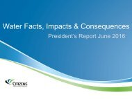 Water Facts Impacts & Consequences