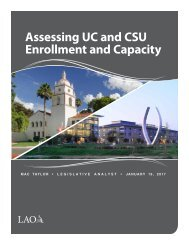Assessing UC and CSU Enrollment and Capacity