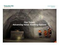 Oyu Tolgoi Advancing Value Creating Options