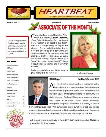 Associate Newsletter - December 2016