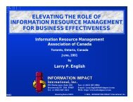 Elevating the Role of IRM for Business Effectiveness