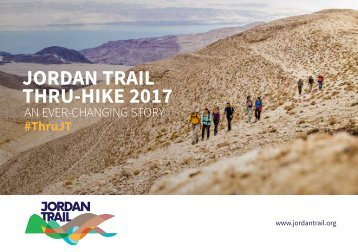 JORDAN TRAIL THRU-HIKE 2017