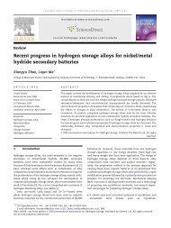 Recent progress in hydrogen storage alloys for nickel/metal hydride ...
