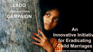 An Innovative Initiativ for Eradicating Child Marriages