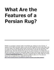 What Are the Features of a Persian Rug?