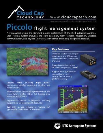 Piccolo Flight Management System - Cloud Cap Technology