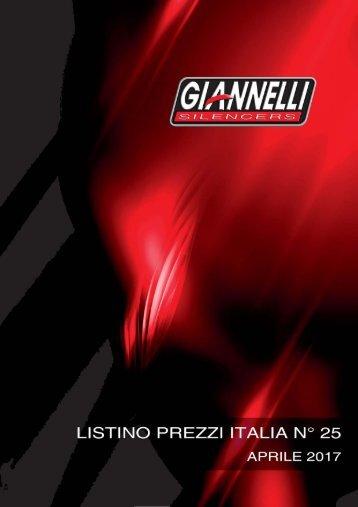 Giannelli Listino prezzi Italia n 25 Aprile 2017