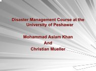 Disaster Management Course at the University of Peshawar - auedm