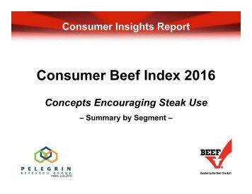 Consumer Beef Index 2016