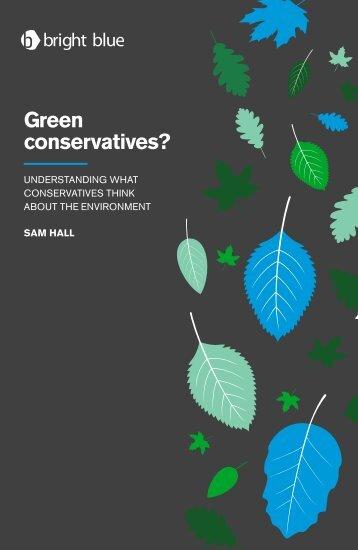 Green conservatives?