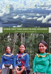 SECURING FOREST TENURE RIGHTS FOR RURAL DEVELOPMENT