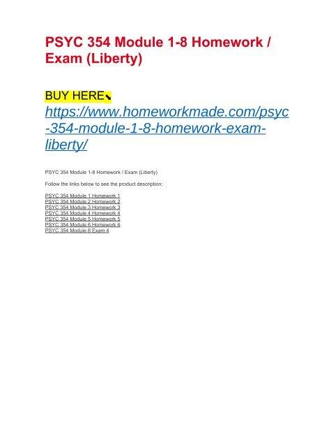 homework 7 psyc 354