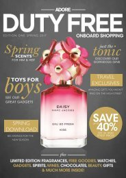 Condor Ferries Adore Duty Free Magazine Spring 2017